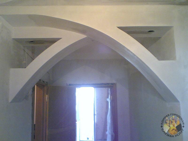 Необычные арки из гипсокартона фото