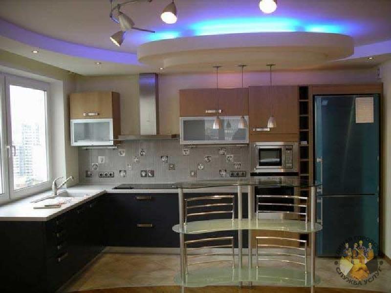 Потолок из гипсокартона фото для кухни своими руками